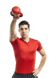 A kettlebell exercise called the kettlebell swing